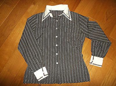 Vintage Retro Bluse 70er Jahre Gr. 42 40 M L gestreift Damen