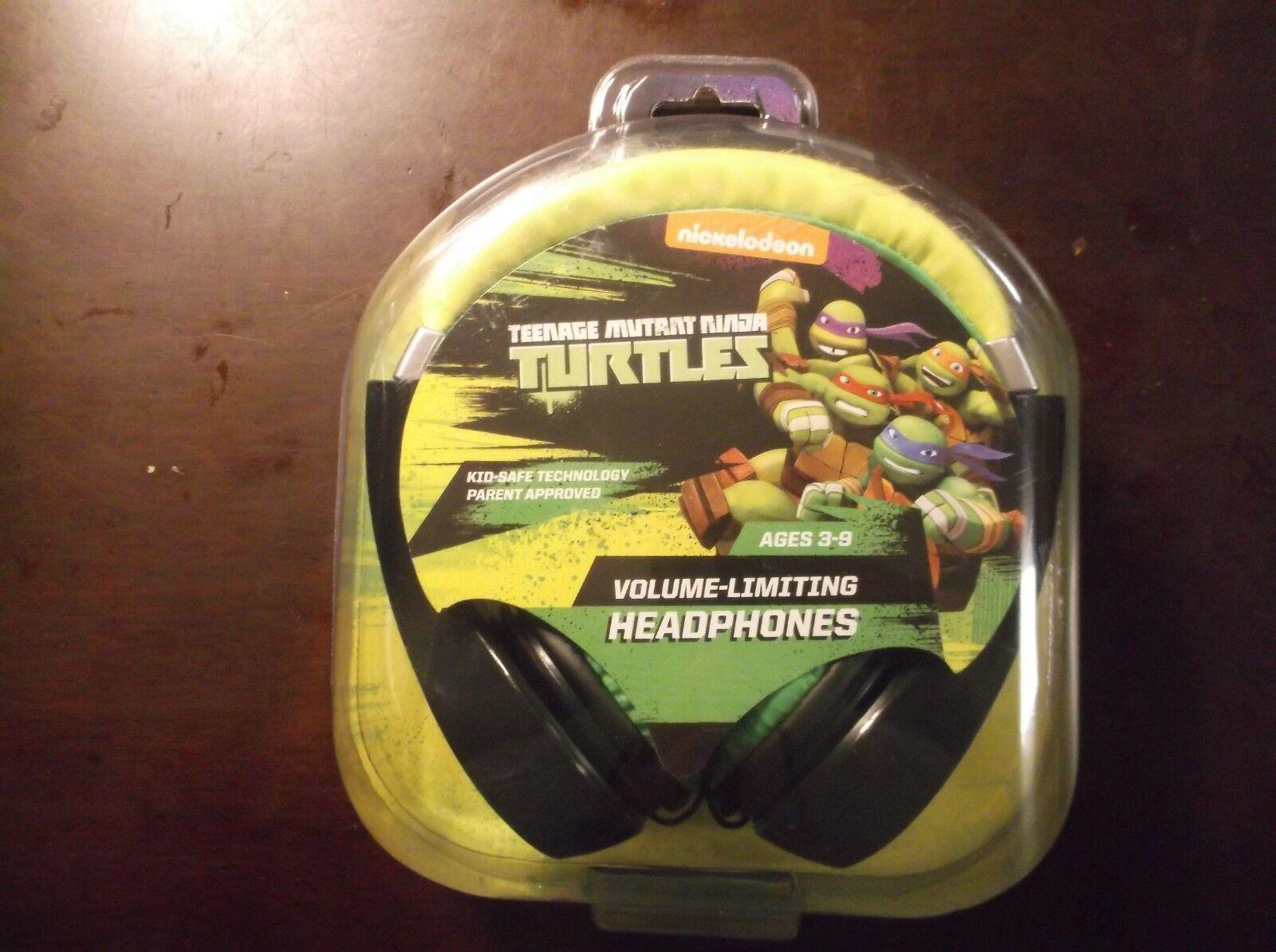 TMNT TEENAGE MUTANT NINJA TURTLES HEADPHONES + VOLUME LIMITI