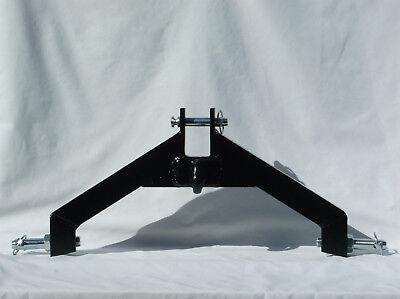 3 Pt Hitch Category 1 Tractor Log Skidder Black Grab Hook Heavy Duty Implement
