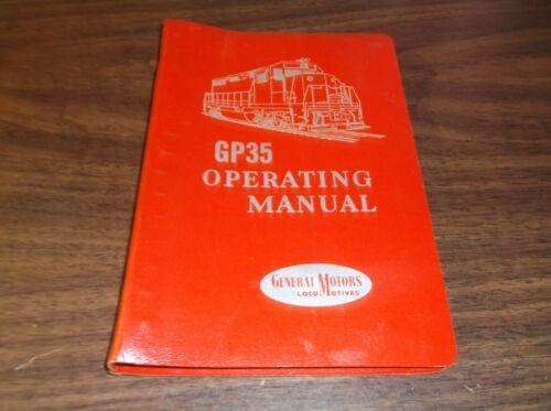 MARCH 1964 EMD GP 35 LOCOMOTIVE OPERATING MANUAL