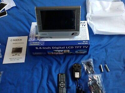 """NIKKAI mini tv  8.4 """" DVB-T / freeview Television - Boxed Rare nice condition"""