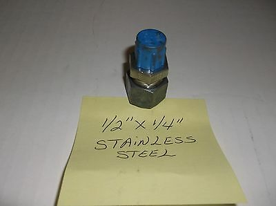10parker 14 Male Thread X 12 316 Stainless Steel Straight Connector