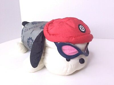 Vintage Sanrio Pochacco Scooter Club Doll With Goggles Plush Stuffed 11in Japan