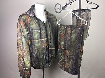 LongLeaf Light Weight Camo Hunting Jacket,Pants,and Head Net-all Size Large. Light Large Head