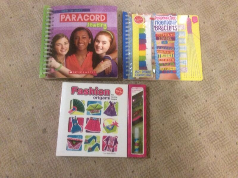 Lot Of Klutz Kids Craft Books Bracelets Fashion Origami Paracord Bracelet New