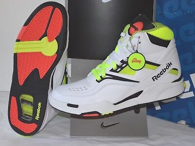 Best Example DS New w/Box Reebok Twilight Zone The Pump White/Neon Yellow/Black