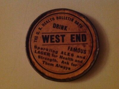 West End Brewery Pocket Mirror. Utica, New York. Rare