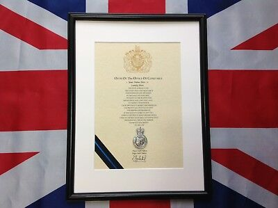 Oath Of Office Police Constable With Cap Badge (Pre 1st October 2002 Religious)