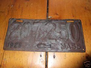 Mass 1928 cod fish license plate 207250 for Mass fishing regulations