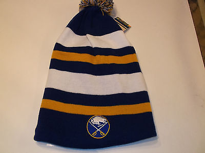 Buffalo Sabres Vintage Hockey Slouch beanie by 47 Brand  ( Free team pennant ) Buffalo Sabres Team Pennant