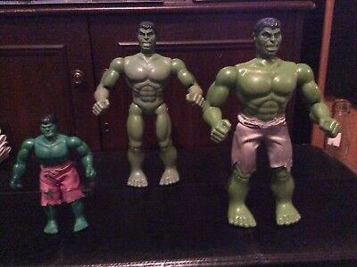 Three Vintage Incredible Hulk Figures 1974/79
