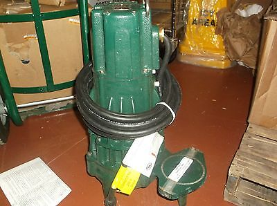 New Zoeller Submersible Sewage Pump E295 2hp 1-ph 3450rpm 4nw26 Wh33c