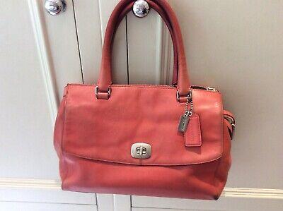 Coach Coral Leather Grab Bag Hand Bag