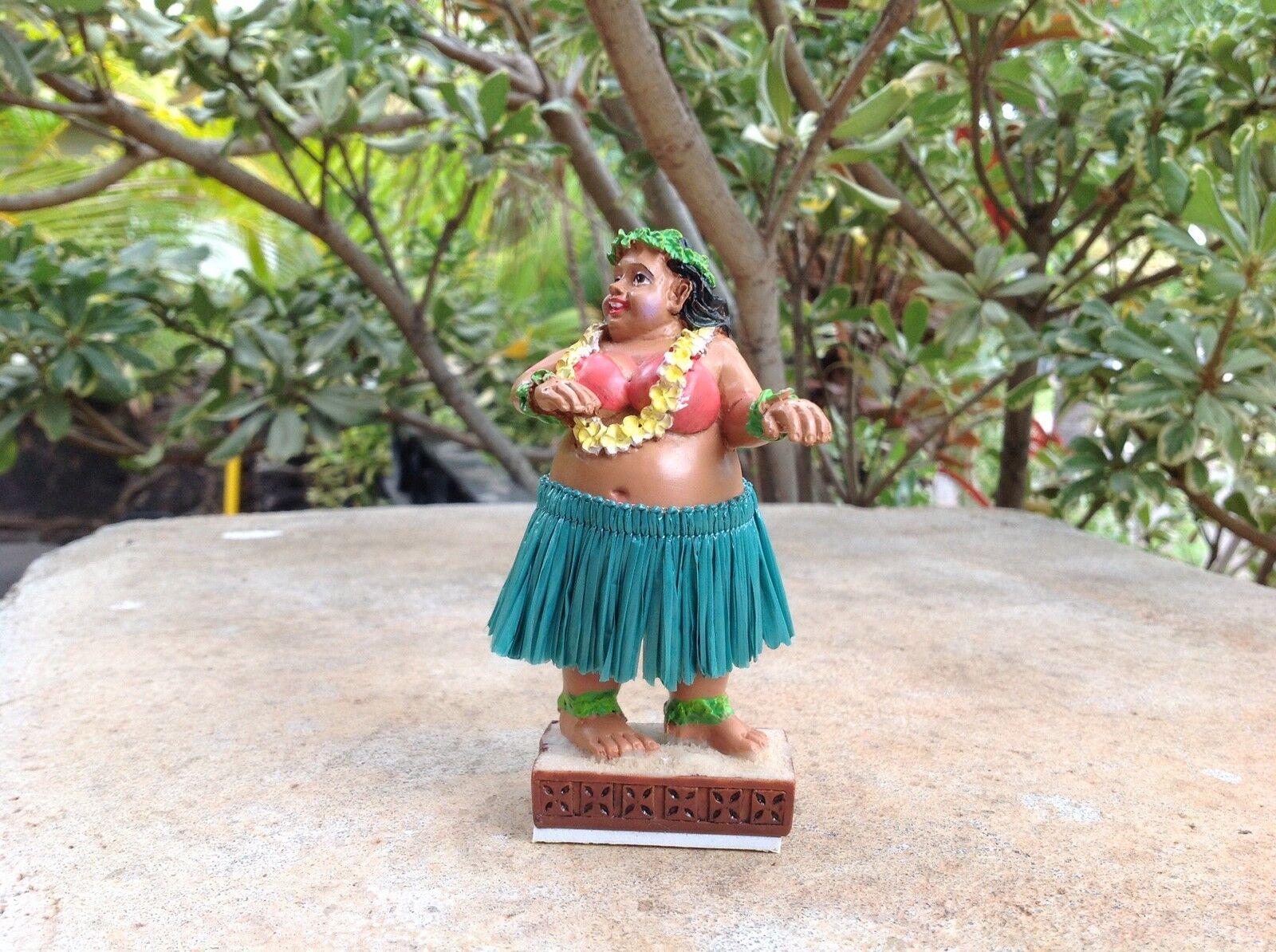 "Dashboard Hula Girl Sweet Wahine 4"" Hawaii Bobblehead Doll S"