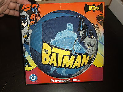 THE BATMAN PLAYGROUND RUBBER BALL DC COMIC BLUE BALL NEW IN BOX