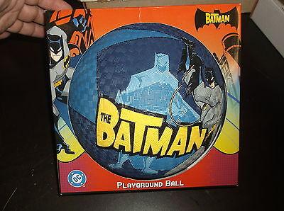 THE BATMAN PLAYGROUND RUBBER BALL DC COMIC BLUE BALL NEW IN BOX