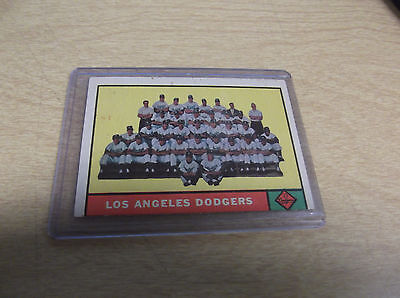 1961 TOPPS #86 L.A. DODGERS TEAM CARD--STORE