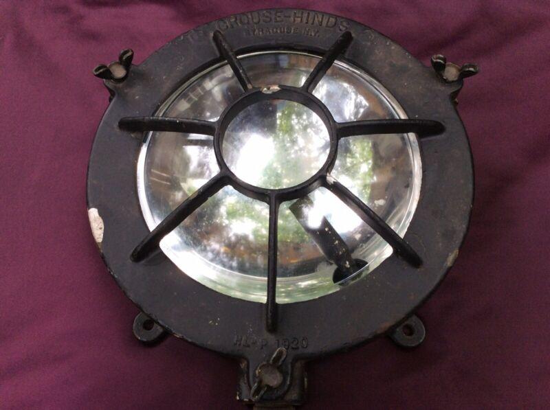Vintage Crouse-Hinds Nautical Marine Light