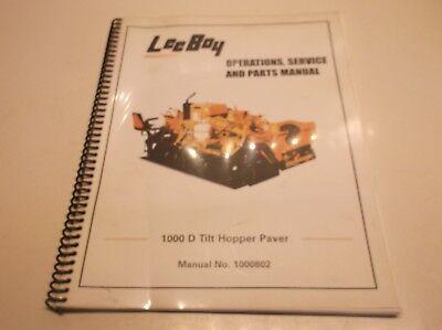 1000802 Leeboy 1000 D Tilt Hopper Paver Operation Srv Repair Manual  Jj1