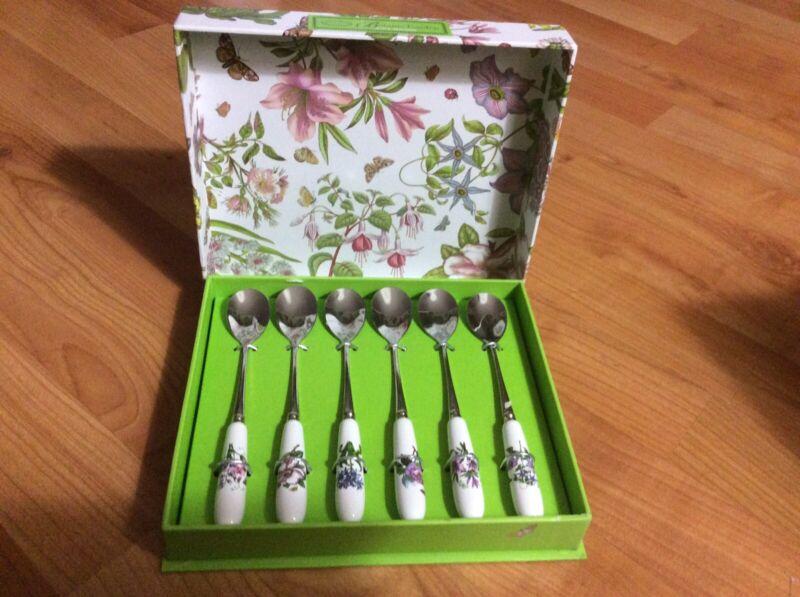 New Portmeirion Botanic Garden 6 Tea Spoons In Gift Box