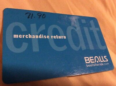 Bealls Dept Store Credit Or Merchandise Card With  71 90   Card Does Not Expire