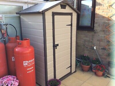 keter plastic shed 4  x  3