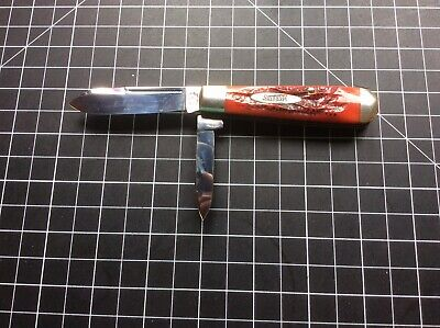 Marbles MSA English Jack Knife, Very Nice Red Bone Handle, USA Made In 2001
