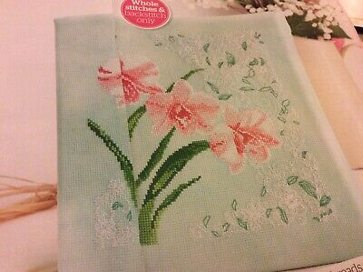 Used, Elegant Orchids Pattern Whole & Back Stitch Only  Cross stitch chart Only (896) for sale  Shipping to South Africa