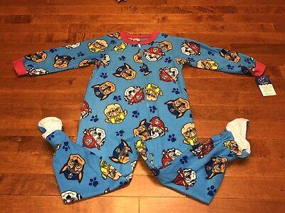 Paw Patrol Blue Toddler Boy Footed Blanket Sleeper Pajamas PJs New (Blue Blanket Sleeper Footed Pajamas)