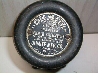 Ohmite Industrial Rheostat Potentiometer Vitreous Enameled Vintage