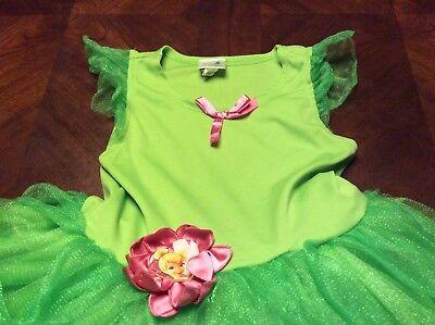 Disney Fairies Tinkerbell Dress Size S 4-6 Kids Girls