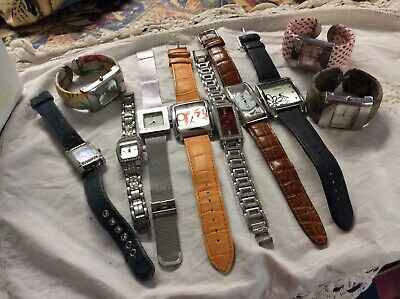 Collection Of 10 Second Hand Watches Needing Batteries And Fiddling With