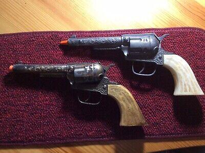 Vintage Pony Boy Diecast Cap Gun Set Of Two