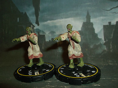 "HORRORCLIX Zombie Patient X2 #022 Yellow-Rookie W/CARDS ""The Lab"""