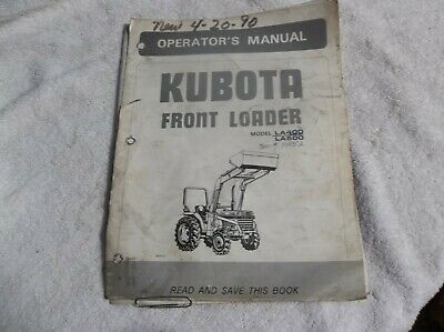 Kubota Front Loader Operators Manual For La400 And La500