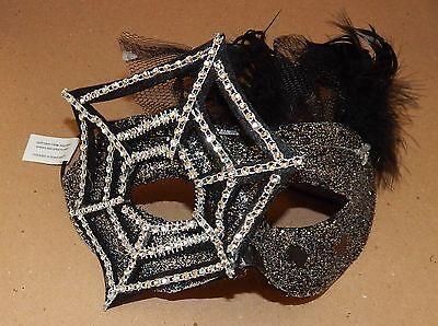 Halloween Costume Half Mask Adult Stiff Molded Silver - 118 Kostüm Halloween
