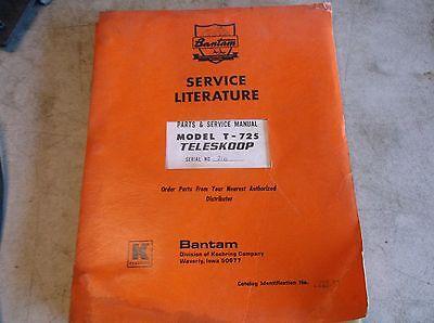 Koehring Bantam Model 7-725 Teleskoop Parts And Service Manual