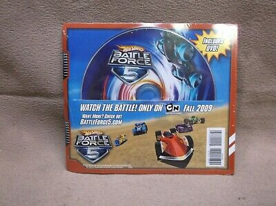 HOT WHEELS 2009 BATTLE FORCE 5 DVD CARTOON NETWORK COLLECTOR CATALOG SEALED