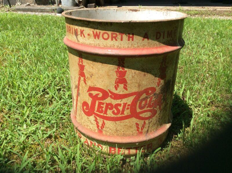 Antique Vintage Pepsi Steel Syrup Barrel