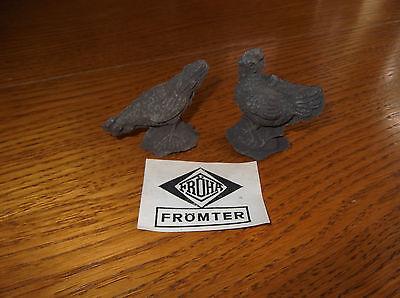 Fröha Frömter 2 Hühner MasseRohlinge Original Papierschild mit Firmenlogo