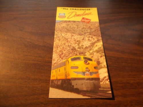 JULY 1956 UNION PACIFIC/MILWAUKEE ROAD UP/MILW CHALLENGER BROCHURE