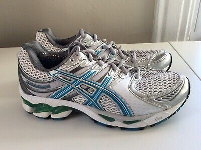 NEW Asics Gel-Kayano 16 Women's Running Shoes - White/Gray/Blue - Sz 8