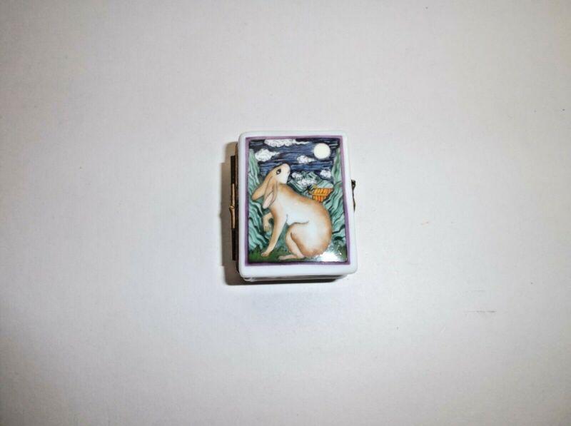 Peint Main Limoges Trinket-Year of the Rabbit
