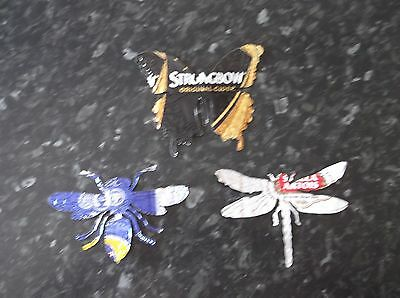 metal recycled beer can dragonfly, butterfly and bumble bee garden decoration