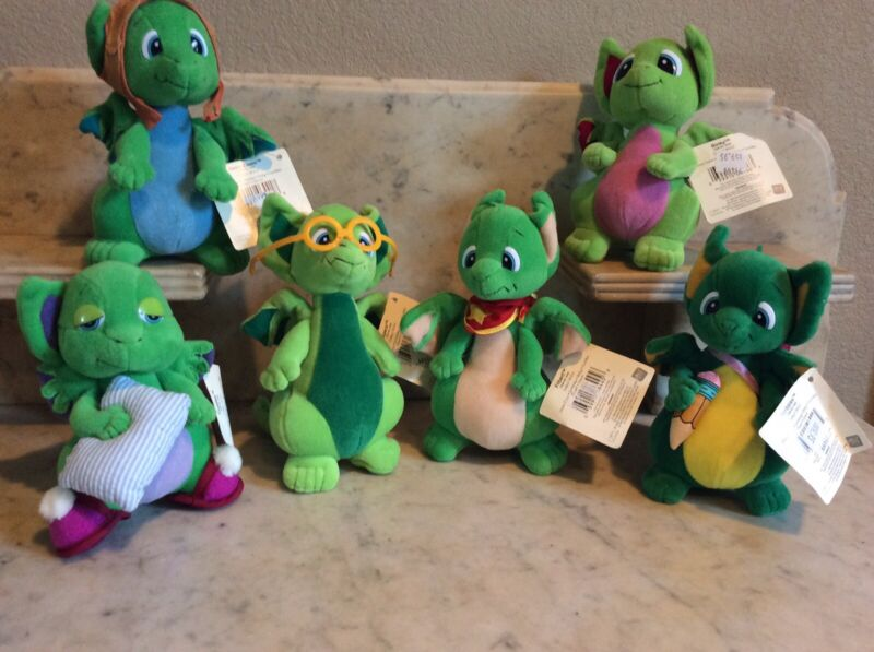 Pocket Dragons: Set Of 6 Collectable: Plush: mint condition