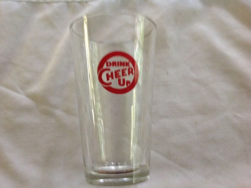 Cheer Up Soda Glass ~ Vintage Drinking Glass ~ Drink Cheer Up
