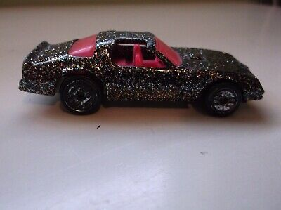 HOT WHEELS HOT BIRD PONTIAC TRANS AM BLACK W/ GLITTER & PINK INTERIOR