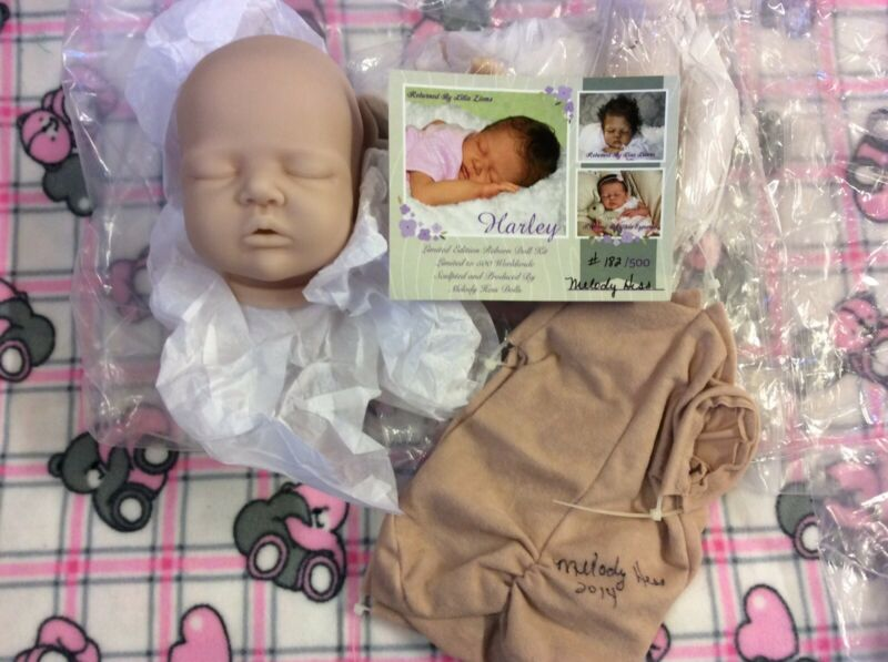 "RARE SOLE ~ HaRLeY~ 17""  MELODY HESS DoLL KiT ~ REBORN DOLL SUPPLIES"