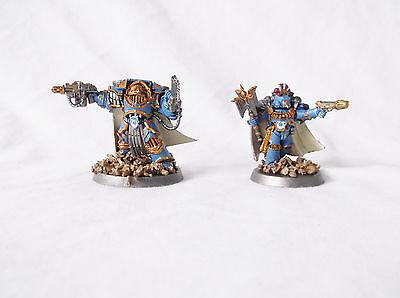 Warhammer 40k Horus Heresy Space Marine Captain & Chaplain-Custom by Pizzazz