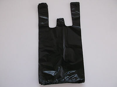 1000 Ct Plastic Shopping Bagsgrocery Store Bags Blacksmall Size 19.
